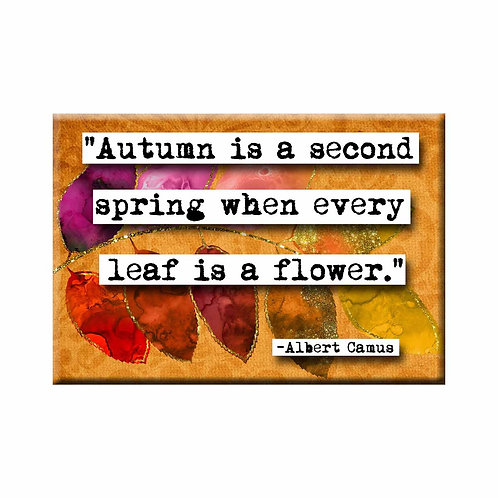 Albert Camus Autumn Quote Magnet - Set of 3 Wholesale