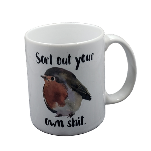 Sort Out Your Own Shit coffee mug - wholesale set of 2