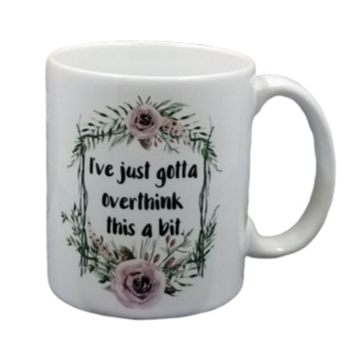 Just Gotta Overthink coffee mug - wholesale set of 2