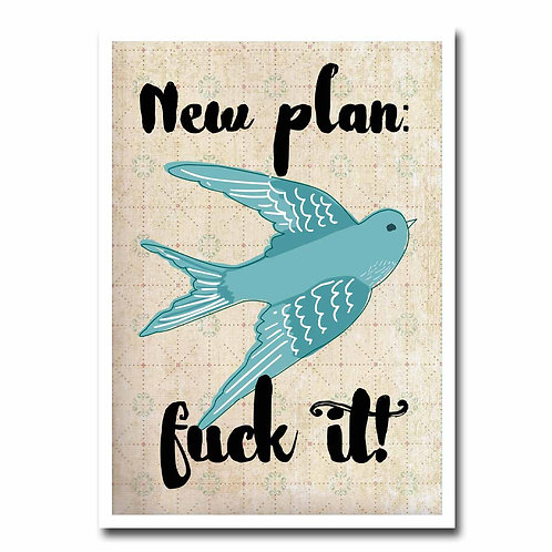 New Plan Greeting Card - 6 pack