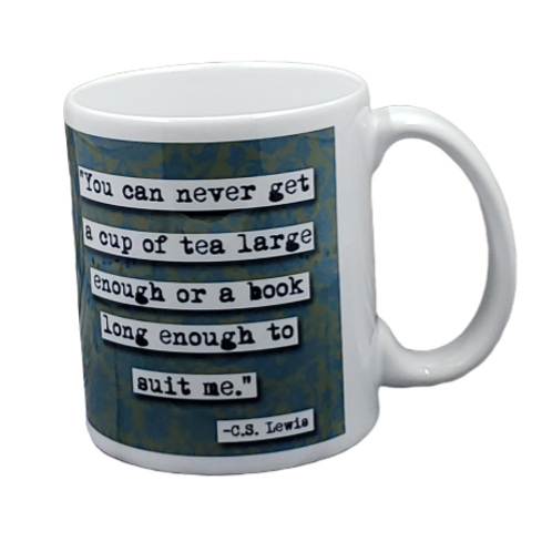 C.S. Lewis Book Long Enough Mug - Set of 2
