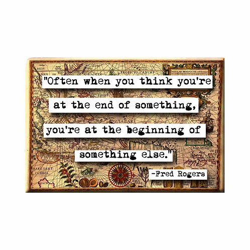 Mister Rogers Beginning Quote Magnet - Set of 3 Wholesale