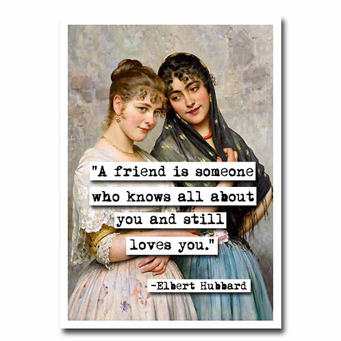 Elbert Hubbard a Friend quote Blank Greeting Card - 6 pack w