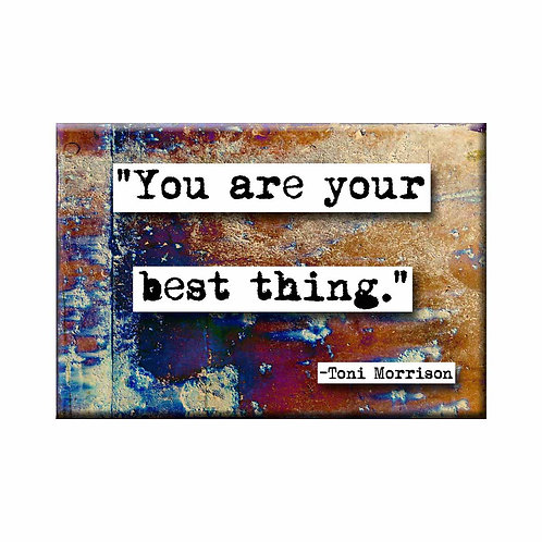 Maya Angelou Best Thing Quote Magnet- Set of 3