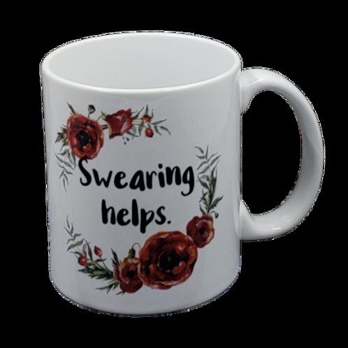 Swearing Helps coffee mug - wholesale set of 2