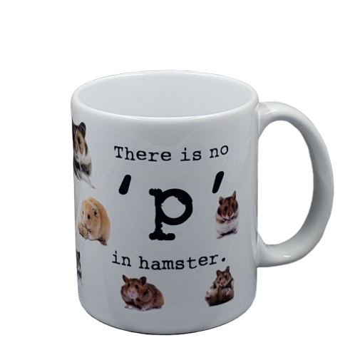There is No  P in Hamster coffee mug - wholesale set of 2