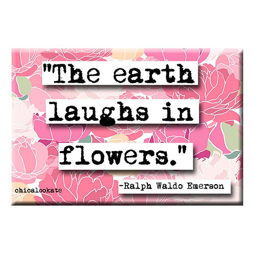 Ralph Waldo Emerson Flowers Magnet - Set of 3