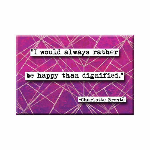 Charlotte Bronte Happy Quote Magnet - Set of 3 Wholesale