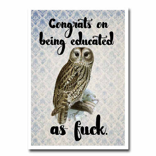 Educated Greeting Card - 6 pack