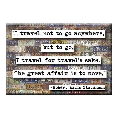 Robert Louis Stevenson Magnet - Set of 3