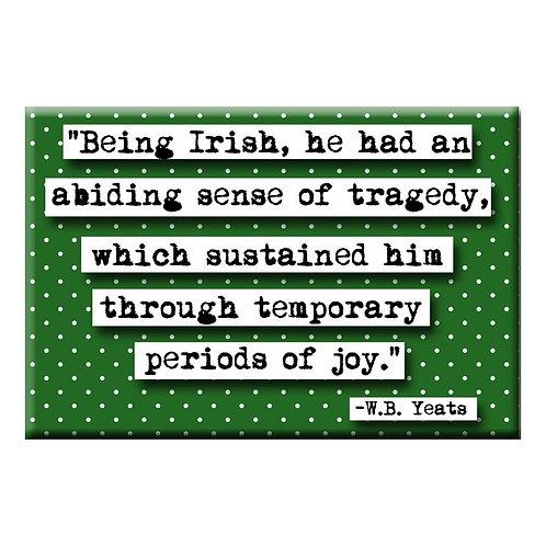 W.B. Yeats  Irish Magnet - Set of 3