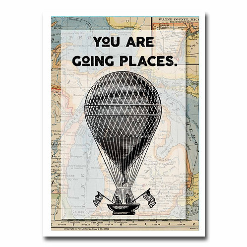 You Are Going Places Greeting Card - 6 pack