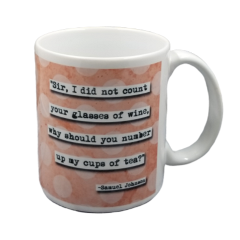 Samuel Johnson Tea Quote Coffee Mug - 2 per