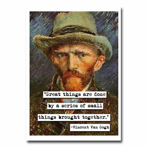 Van Gogh Great Things Greeting Card - 6 pack