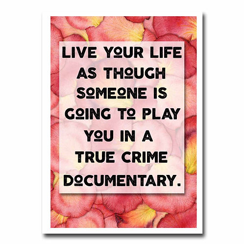 True Crime Blank Greeting Card - 6 pack