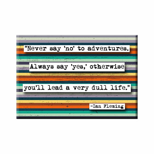 Ian Fleming Adventure Quote Magnet - Set of 3 Wholesale