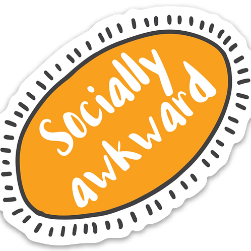 Socially Awkward Vinyl Sticker - Set of 4