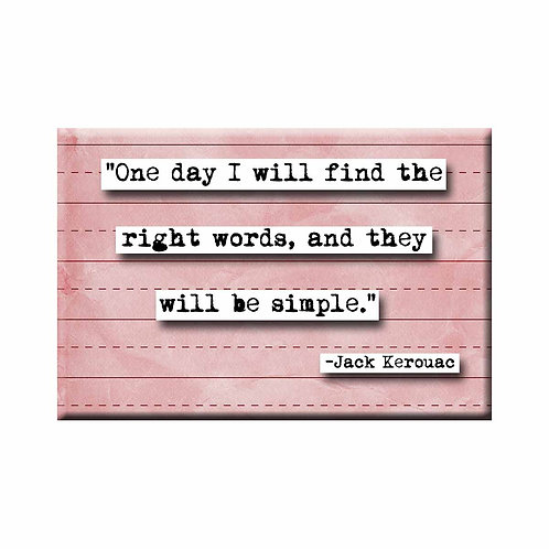 Jack Kerouac One Day Quote Magnet - Set of 3 Wholesale