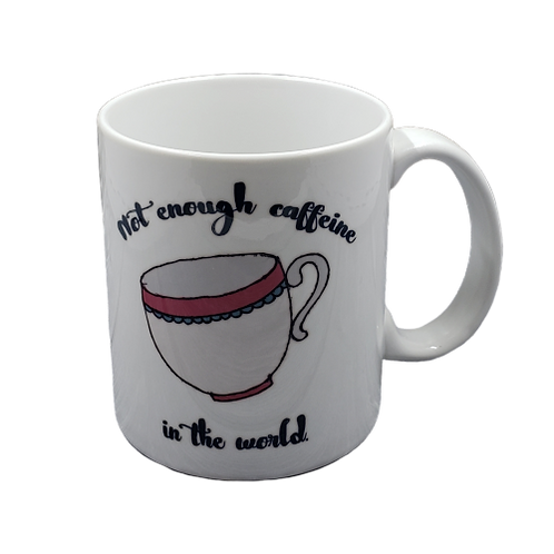 Not Enough Caffeine coffee mug - wholesale set of 2