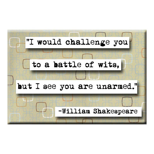 William Shakespeare Wits Magnet - Set of 3