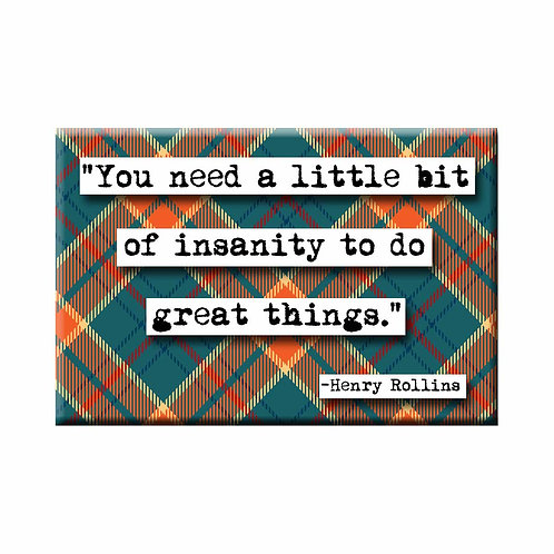 Henry Rollins Great Things Quote Magnet - Set of 3 Wholesale