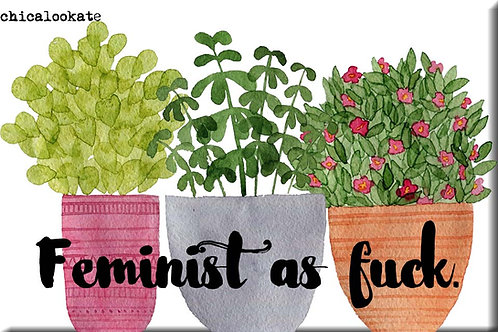 Feminist As Fuck Magnet- Set of 3 Wholesale