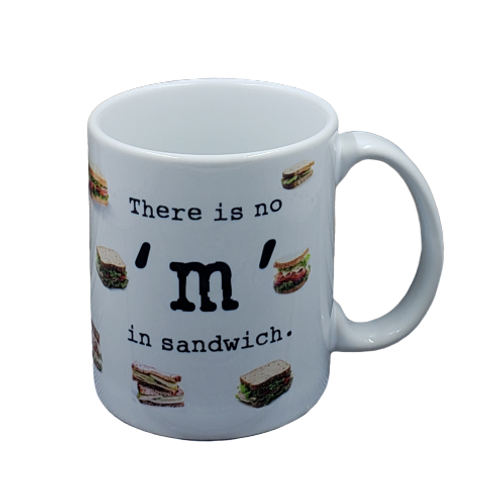 There is No M in Sandwich coffee mug - wholesale set of 2