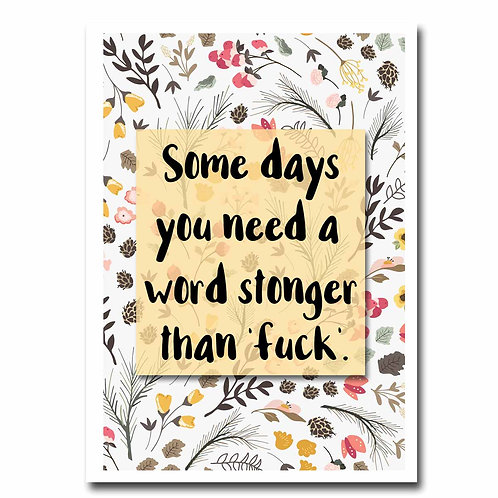 Stonger Word Blank Greeting Card - 6 pack