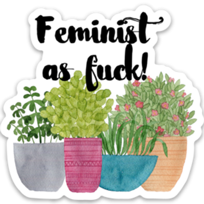 Feminist AF Vinyl Sticker - Set of 4