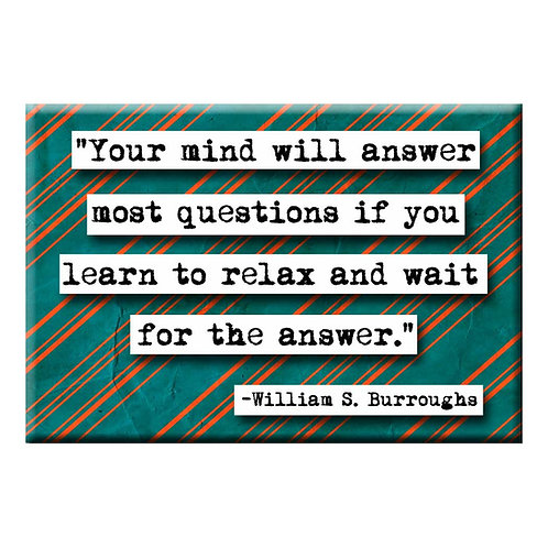 William S. Burroughs Answer Quote Magnet- Set of 3 Wholesale