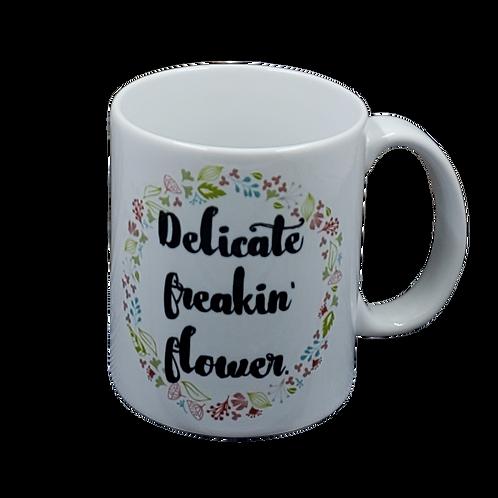 Delicate Freakin coffee mug - wholesale set of 2