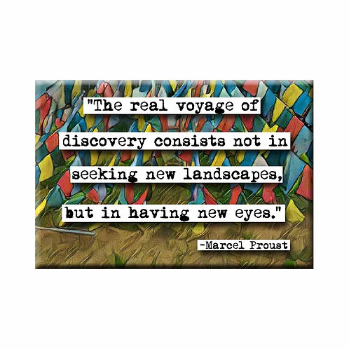 Marcel Proust Voyage Quote Magnet - Set of 3 Wholesale
