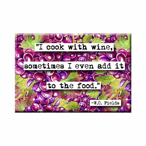 W. C. Fields Cook With Wine Magnet - Set of 3 Wholesale