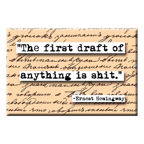 Hemingway First Draft Magnet - Set of 3