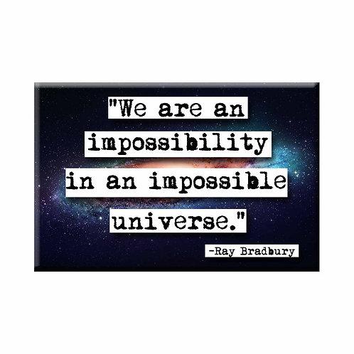Ray Bradbury Impossibilty Quote Magnet - Set of 3 Wholesale