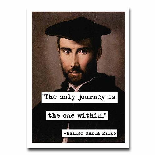 Rainer Maria Rilke Blank Greeting Card - 6 Pack