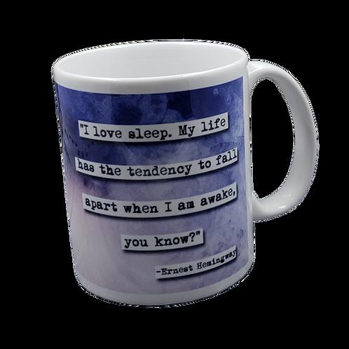 Ernest Hemingway Sleep coffee mug - wholesale set of 2