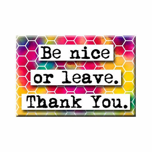 Be Nice Magnet - Set of 3