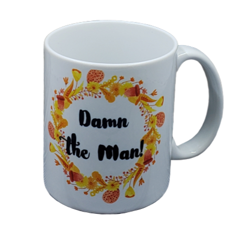 Damn the Man coffee mug - wholesale set of 2
