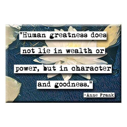 Anne Frank Goodness Magnet - Set of 3