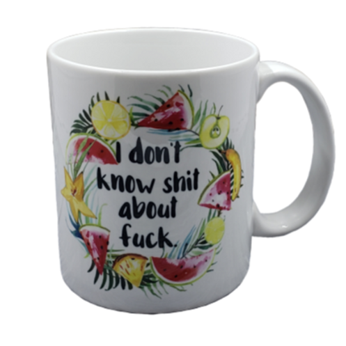Don't Know Shit coffee mug - wholesale set of 2