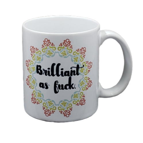 Brilliant as Fuck coffee mug - wholesale set of 2