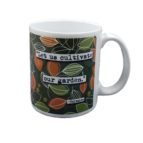 Voltaire Cultivate Our Garden Quote Coffee Mug - Wholesale 2 per