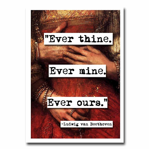Beethoven Ever Thine  Blank Greeting Card