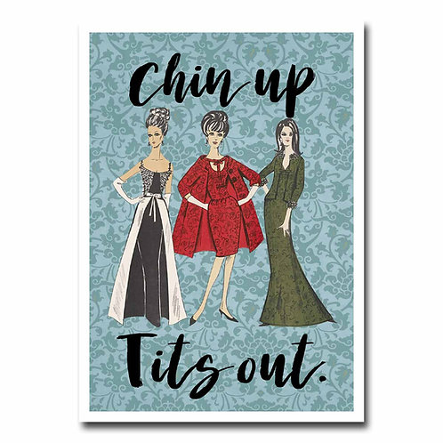 Chin Up Tits Out Greeting Card - 6 pack Wholesale