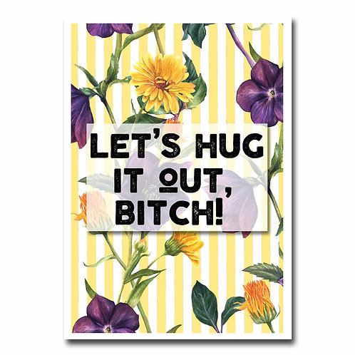 Hug It Out Blank Greeting Card - 6 pack