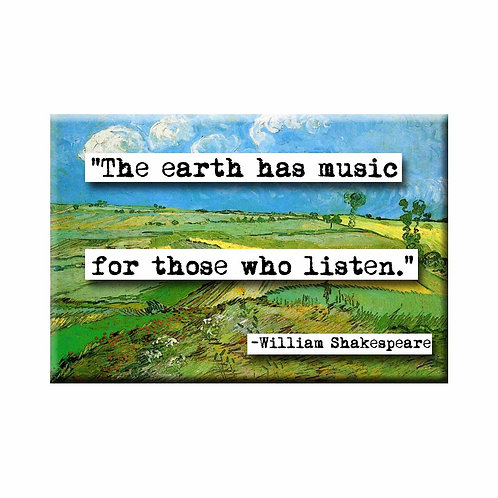 William Shakespeare Music Quote Magnet - Set of 3 Wholesale