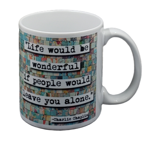 Charlie Chaplin Quote coffee mug - wholesale set of 2