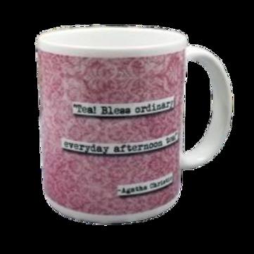 Agatha Christie Tea Quote Coffee Mug - 2 per