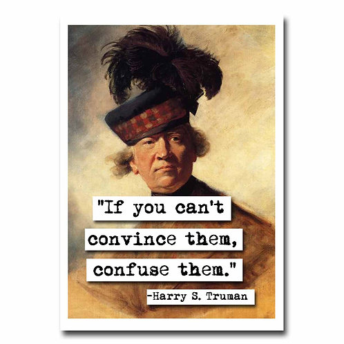 Harry S Truman Blank Greeting Card - 6 Pack